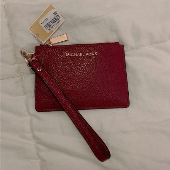 michael kors maroon coin purse